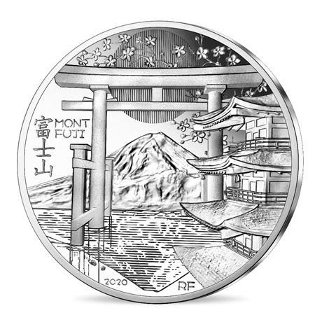 (EUR07.ComBU&BE.2020.10041344100000) 10 euro France 2020 argent BE - Mont Fuji Avers