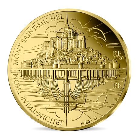 (EUR07.ComBU&BE.2020.10041344110000) 50 euro France 2020 Au BE - Mont Saint-Michel Avers
