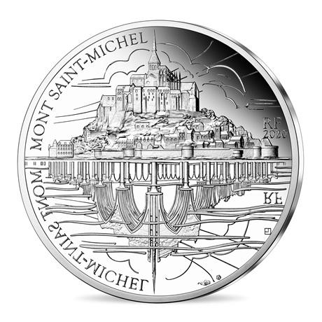 (EUR07.ComBU&BE.2020.10041344120000) 10 euro France 2020 Ag BE - Mont Saint-Michel Avers