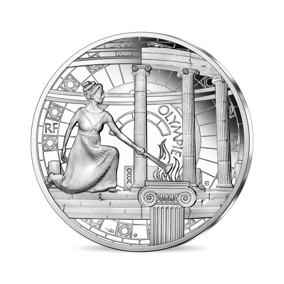 (EUR07.ComBU&BE.2020.10041344140000) 10 euro France 2020 Proof Ag - Olympia Obverse (zoom)
