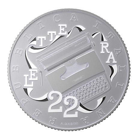 (EUR10.ComBU&BE.2020.48-2MS10-20F003) 5 euro Italie 2020 argent BU - Olivetti Lettera 22 (blanche) Avers