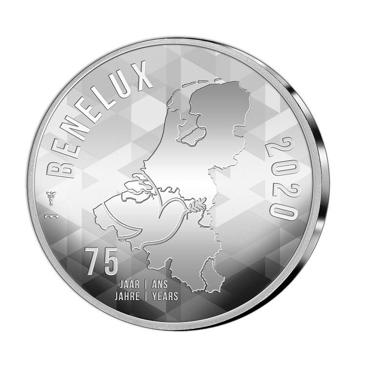 (EUR23.CofBU&FDC.2020.Cof-BU) BU coin set Benelux 2020 (medal obverse) (zoom)