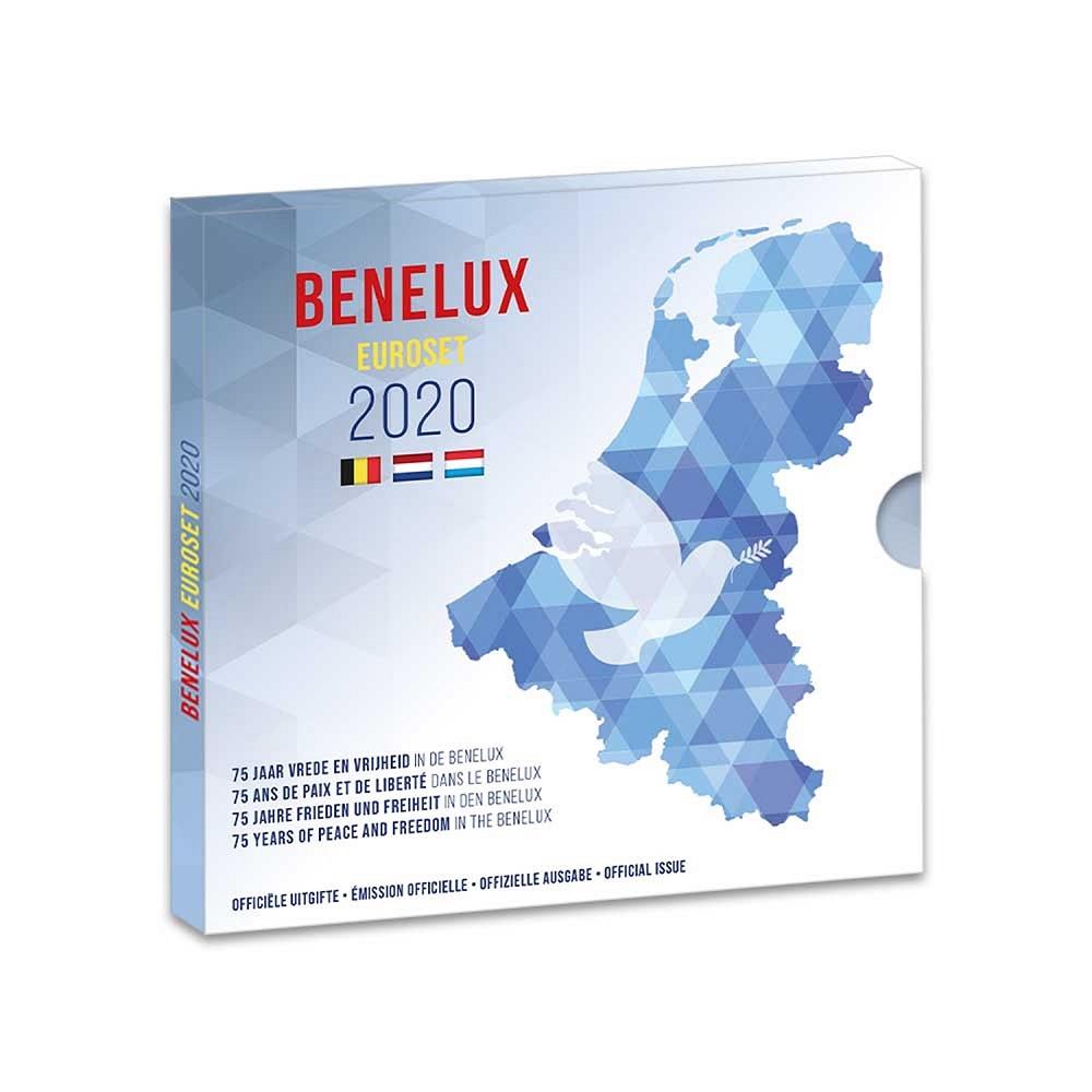 (EUR23.CofBU&FDC.2020.Cof-BU) Brilliant Uncirculated coin set Benelux 2020 (zoom)