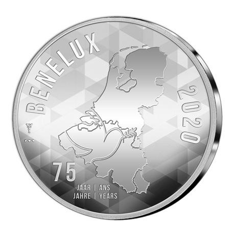 (EUR23.CofBU&FDC.2020.Cof-BU) Coffret BU Benelux 2020 (avers médaille)