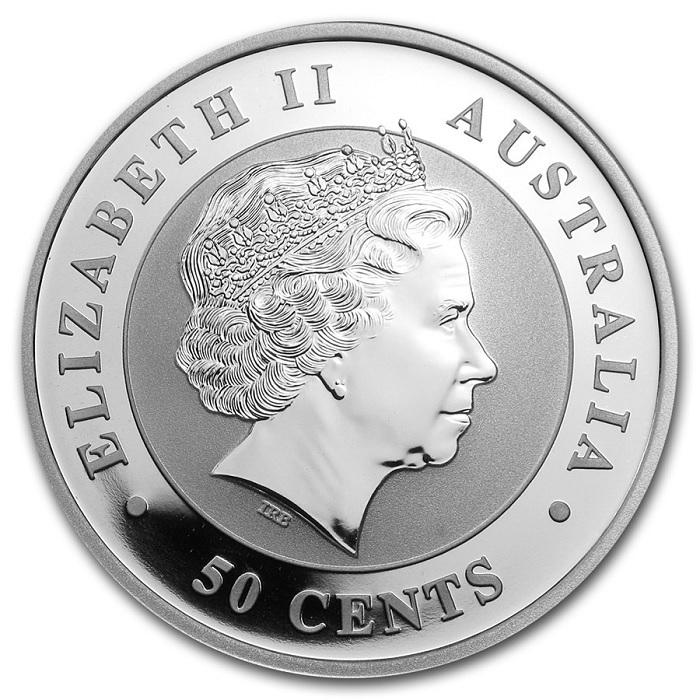 (W017.050.2013.0,5.oz.Ag.1) 50 Cents Australia 2013 0.5 oz BU Ag - Australian Koala Obverse (zoom)