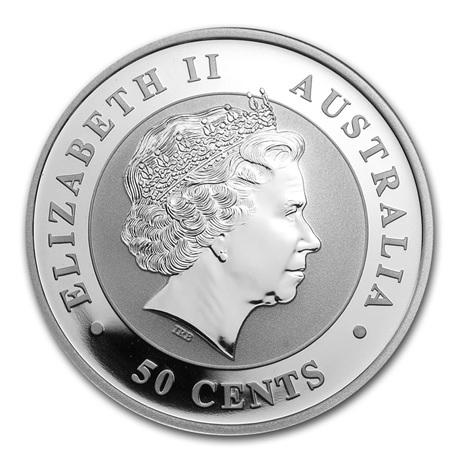 (W017.050.2013.0,5.oz.Ag.1) 50 cents Australie 2013 0,5 once argent - Koala Avers