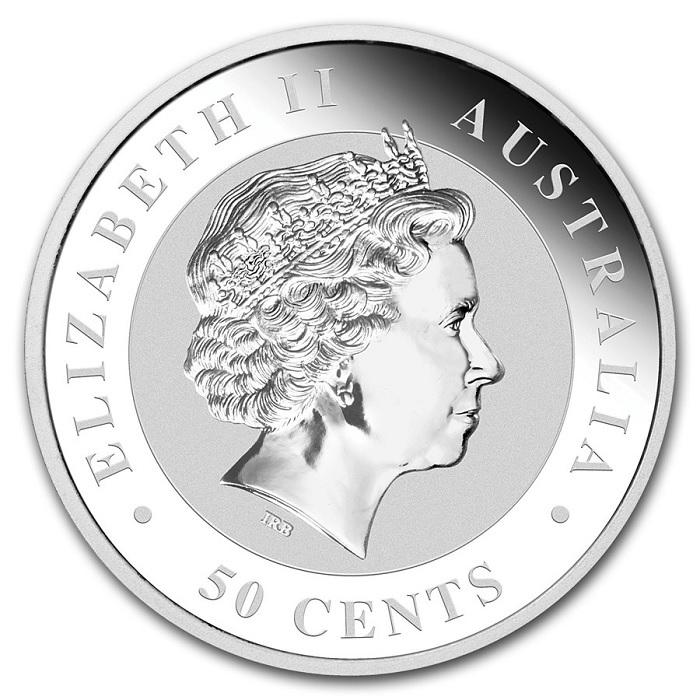 (W017.050.2014.0,5.oz.Ag.2) 50 Cents Australia 2014 0.5 oz BU Ag - Australian Koala Obverse (zoom)