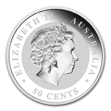 (W017.050.2014.0,5.oz.Ag.2) 50 cents Australie 2014 0,5 once argent - Koala Avers