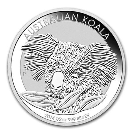 (W017.050.2014.0,5.oz.Ag.2) 50 cents Australie 2014 0,5 once argent - Koala Revers