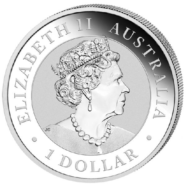 (W017.100.2019.1.ag.bullco.1) 1 Dollar Australia 2019 1 oz silver - Nugget Welcome Stranger Obverse (zoom)