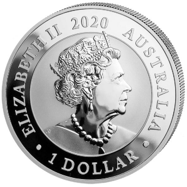 (W017.100.2020.1.ag.bullco.4) 1 Dollar Australia 2020 1 oz silver - Swan Obverse (zoom)