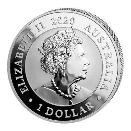 (W017.100.2020.1.ag.bullco.4) 1 Dollar Australie 2020 1 once argent - Cygne Avers