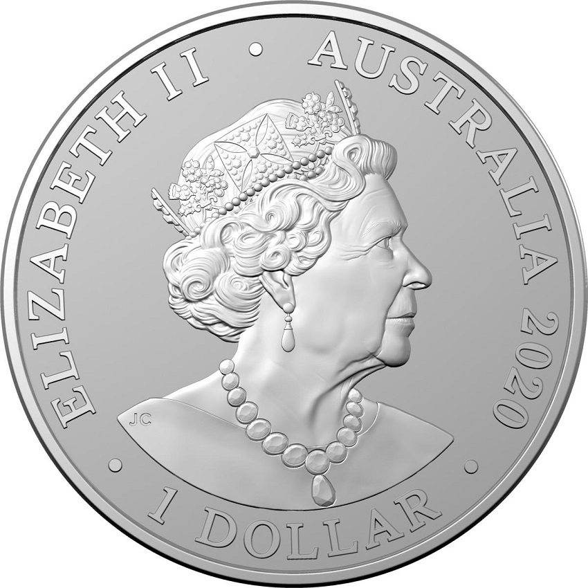 (W017.100.2020.1.ag.bullco.5) 1 Dollar Australia 2020 1 oz silver - Sumatran tiger Obverse (zoom)
