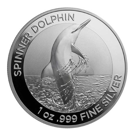 (W017.100.2020.1.ag.bullco.6) 1 Dollar Australie 2020 1 once argent - Dauphin à long bec Revers