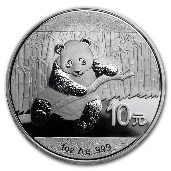 (W041.1000.2014.1.oz.Ag.1) 10 Yuan China 2014 1 oz BU silver - Panda Reverse (zoom)