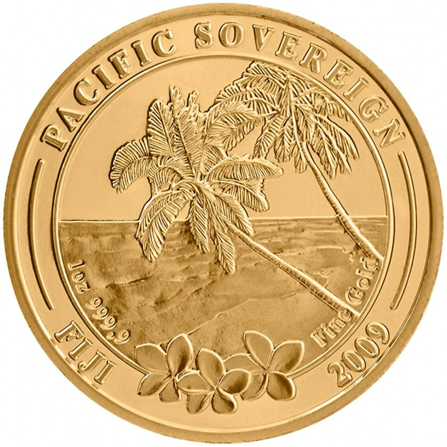 (W073.10000.2009.1.oz.au.1) 100 Dollars Fiji 2009 1 oz BU Au - Pacific Sovereign Reverse (zoom)