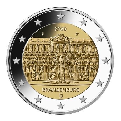 2 euro commémorative Allemagne 2020 J - Palais Sanssouci