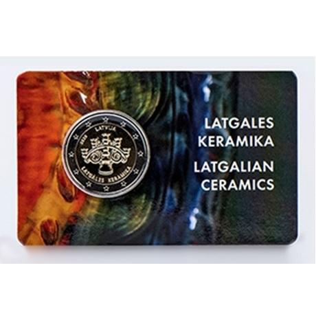 2 euro commémorative Lettonie 2020 BU - Céramique du Latgale