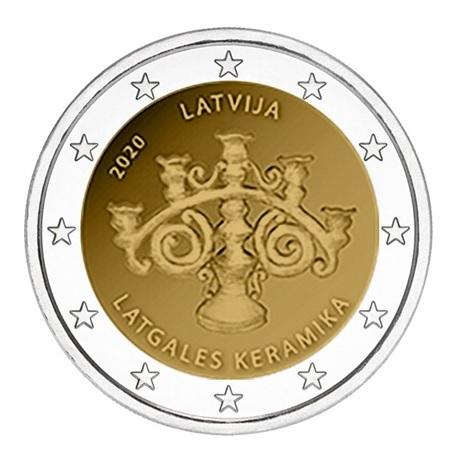 2 euro commémorative Lettonie 2020 - Céramique du Latgale