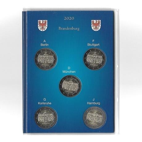 2 euro commémoratives Allemagne 2020 - Palais Sanssouci (les 5 ateliers A, D, F, G et J)