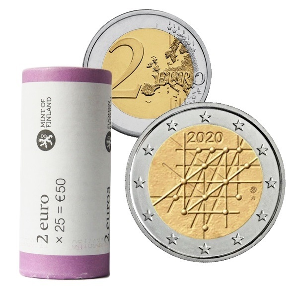 2 euro roll Finland 2020 - University of Turku (zoom)