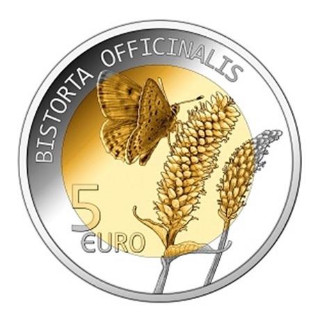 5 euro Luxembourg 2020 argent et or nordique BE - Renouée bistorte Revers
