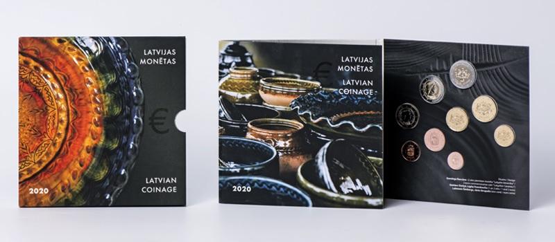 BU coin set Latvia 2020 - Latgale ceramic (open) (zoom)