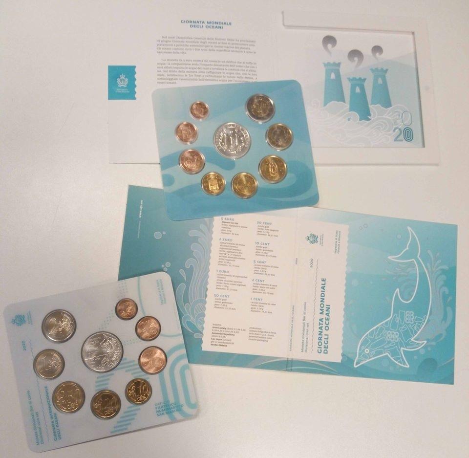 BU coin set San Marino 2020 (World oceans Day) (zoom)