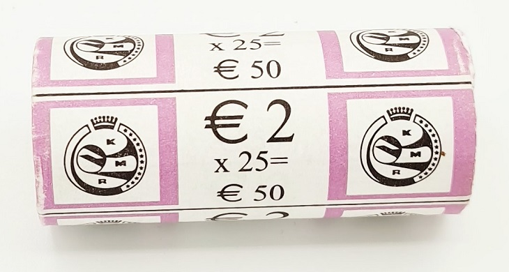 (EUR02.200.2014.roll.COM1) 2 euro roll Belgium 2014 - Red Cross (zoom)