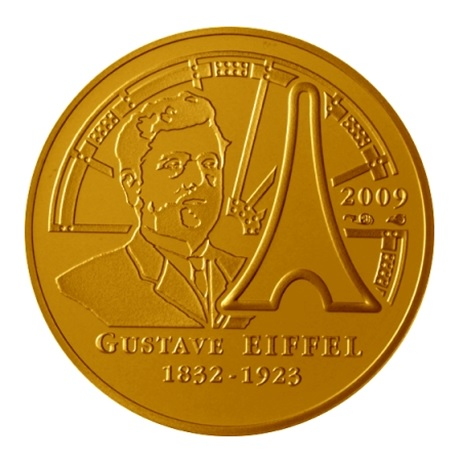 (EUR07.ComBU&BE.2009.5000.BE.COM8) 50 euro France 2009 Au BE - Gustave Eiffel Revers