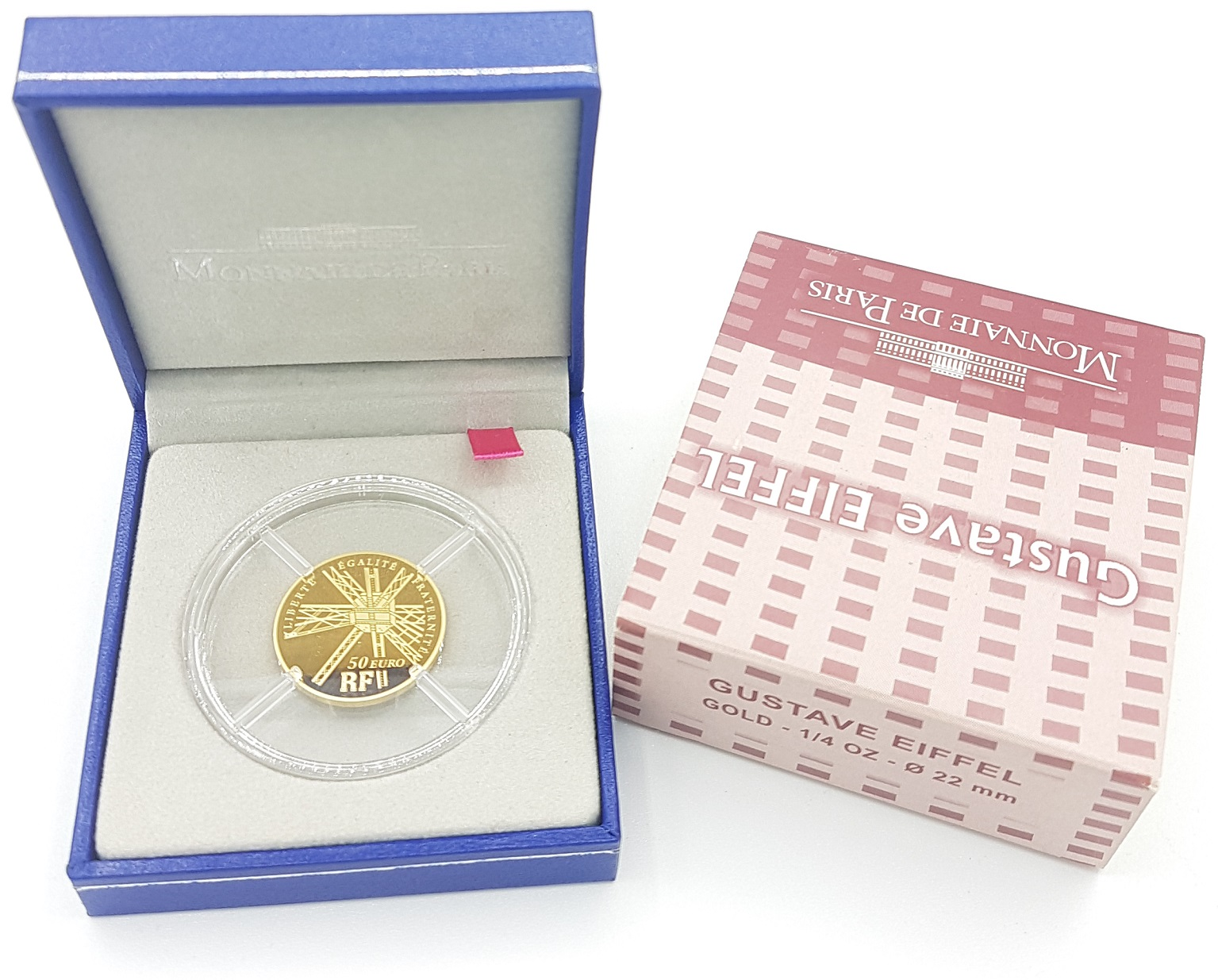 (EUR07.ComBU&BE.2009.5000.BE.COM8) 50 euro France 2009 Proof gold - Gustave Eiffel Obverse (zoom)