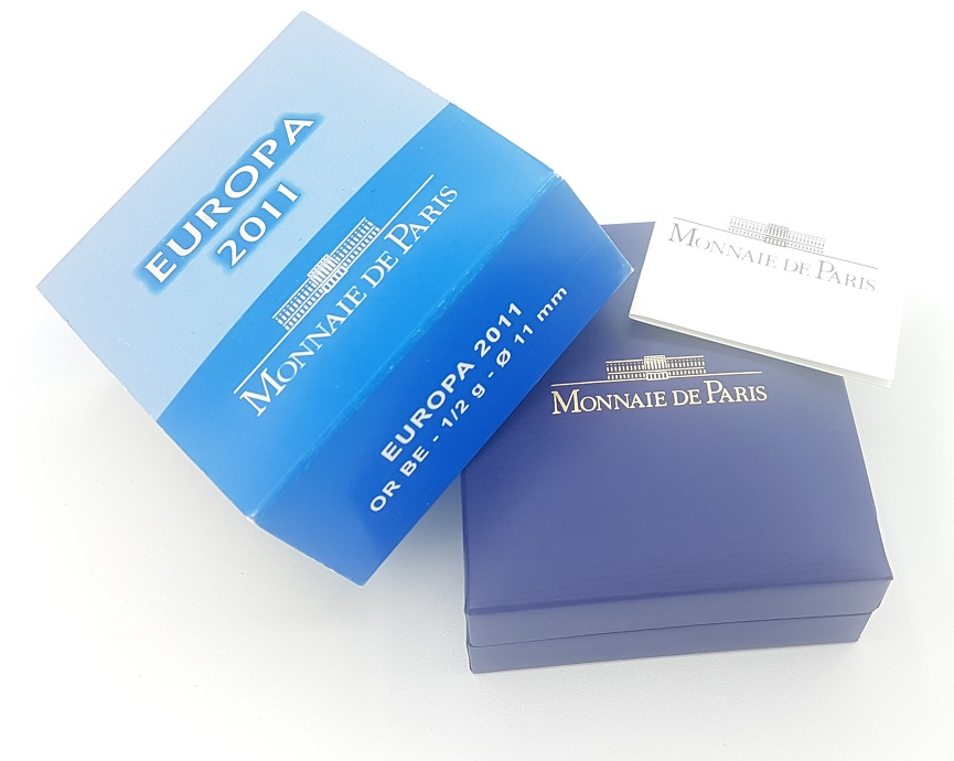(EUR07.ComBU&BE.2011.10041268830000) 5 euro France 2011 Proof Au - Europa (packaging) (zoom)