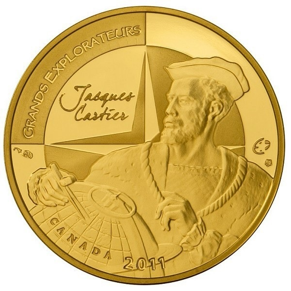 (EUR07.ComBU&BE.2011.10041268880000) 50 euro France 2011 Proof Au - Jacques Cartier Obverse (zoom)