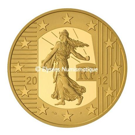 (EUR07.ComBU&BE.2012.10041274990000) 5 euro France 2012 Au BE - Semeuse Avers