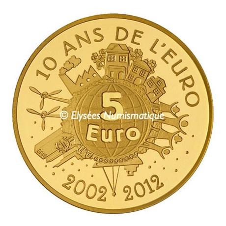 (EUR07.ComBU&BE.2012.10041274990000) 5 euro France 2012 Au BE - Semeuse Revers