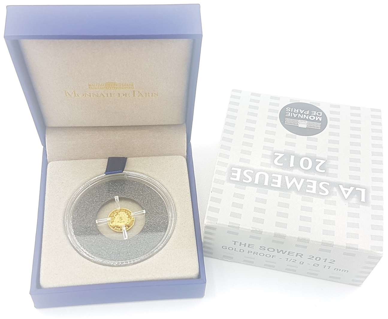 (EUR07.ComBU&BE.2012.10041274990000) 5 euro France 2012 Proof gold - Sower Reverse (zoom)
