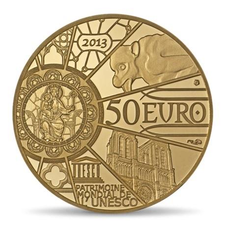 (EUR07.ComBU&BE.2013.10041281640000) 50 euro France 2013 Au BE - Notre-Dame de Paris Revers