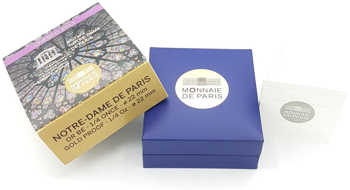 (EUR07.ComBU&BE.2013.10041281640000) 50 euro France 2013 Proof Au - Notre-Dame de Paris (case) (zoom)