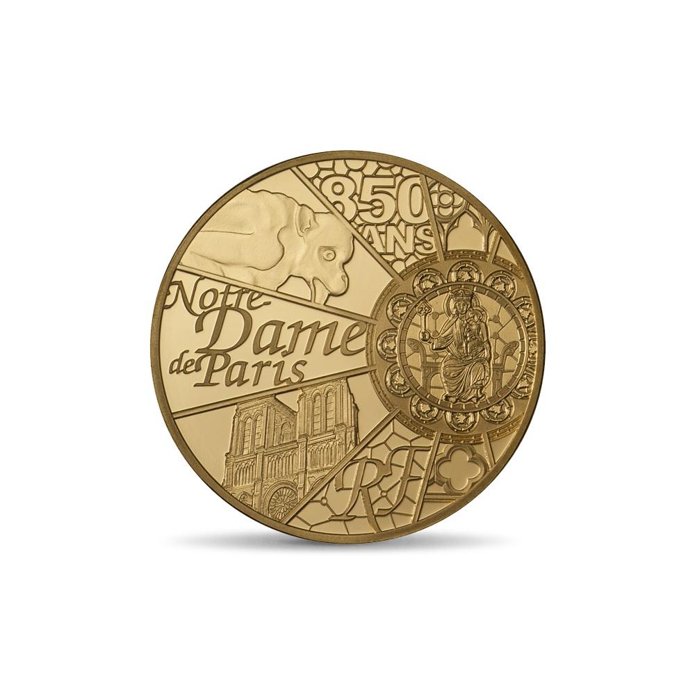 (EUR07.ComBU&BE.2013.10041281640000) 50 euro France 2013 Proof gold - Notre-Dame de Paris Obverse (zoom)