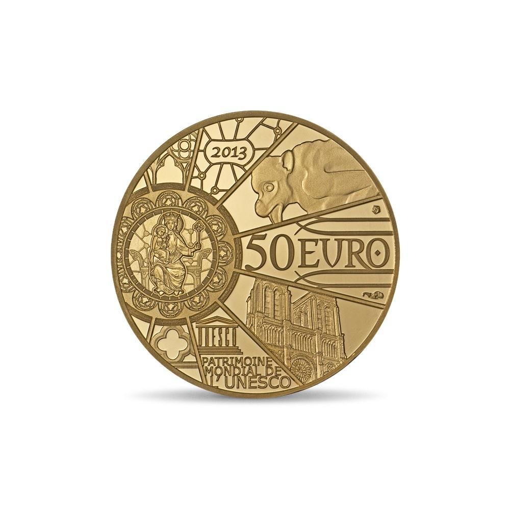 (EUR07.ComBU&BE.2013.10041281640000) 50 euro France 2013 Proof gold - Notre-Dame de Paris Reverse (zoom)