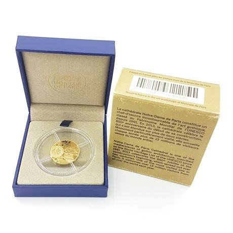 (EUR07.ComBU&BE.2013.10041281640000) 50 euro France 2013 or BE - Notre-Dame de Paris Revers