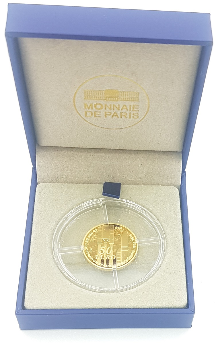 (EUR07.ComBU&BE.2014.10041286450000) 50 euro France 2014 Proof gold - Europa Reverse (zoom)