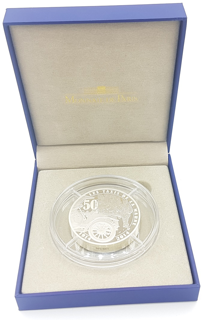 (EUR07.ComBU&BE.2014.10041286770000.148) 50 euro France 2014 Proof Ag - First World War Reverse (zoom)