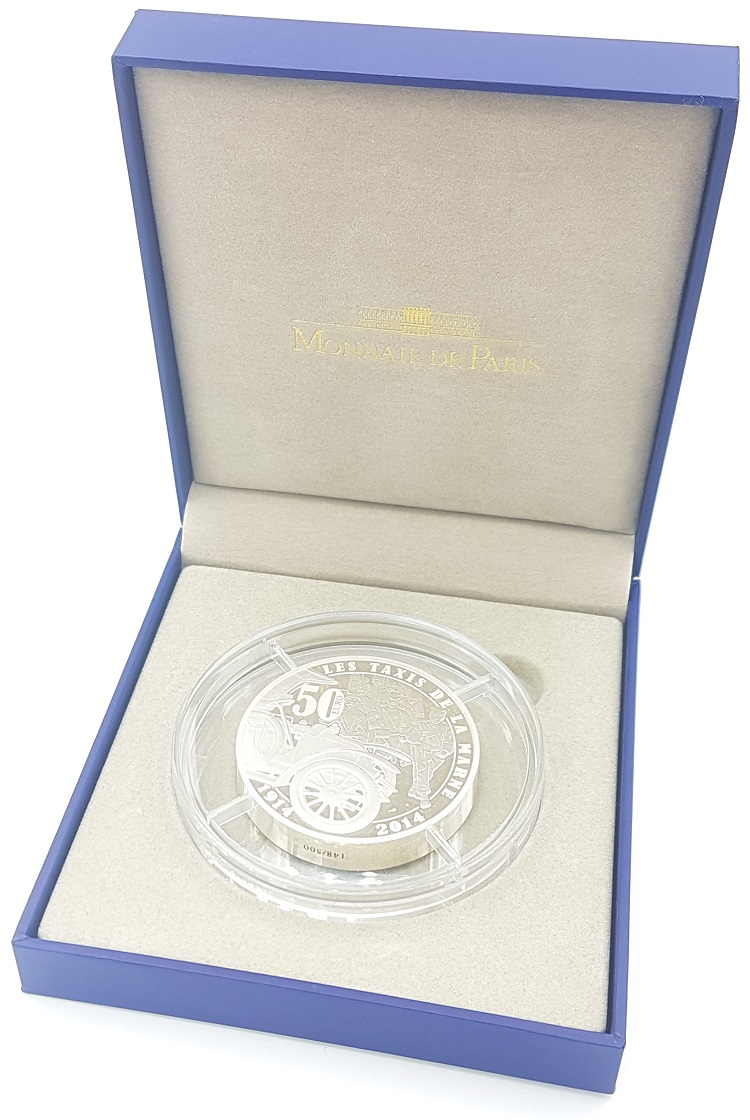 (EUR07.ComBU&BE.2014.10041286770000.148) 50 euro France 2014 Proof Ag - First World War (open) (zoom)