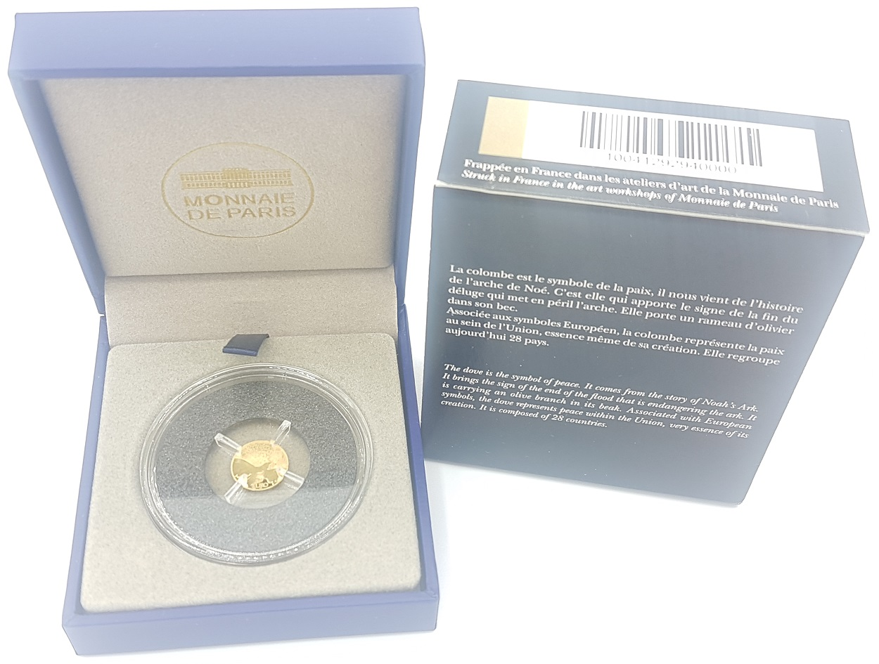 (EUR07.ComBU&BE.2015.10041292940000) 5 euro France 2015 Proof gold - Europa (open case) (zoom)