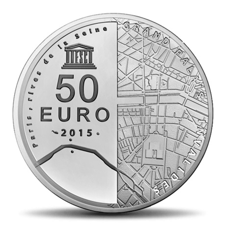 (EUR07.ComBU&BE.2015.10041295190000) 50 euro France 2015 Ag BE - Invalides et Grand Palais Revers