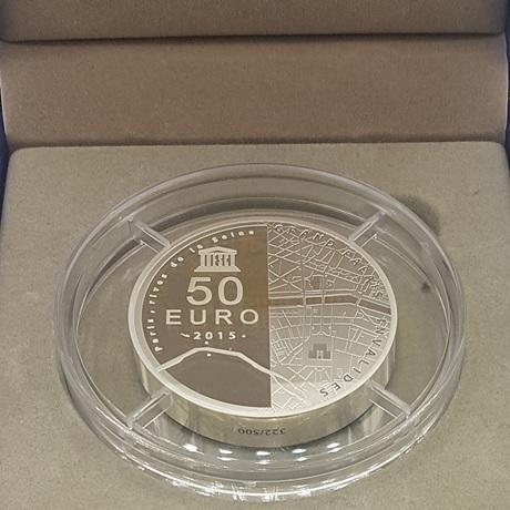(EUR07.ComBU&BE.2015.10041295190000.322) 50 euro France 2015 argent BE - Invalides et Grand Palais Revers