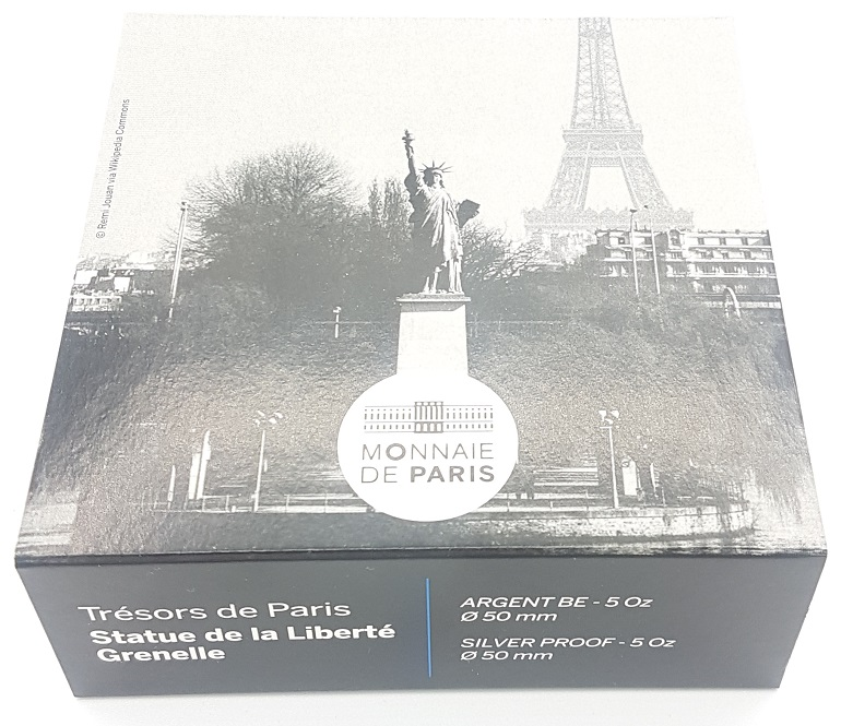 (EUR07.ComBU&BE.2017.10041308250000) 50 euro France 2017 Proof Ag - Statue of Liberty Front (zoom)