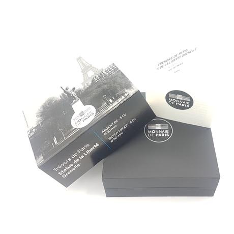 (EUR07.ComBU&BE.2017.10041308250000.0613) 50 euro France 2017 Ag BE - Statue de la Liberté de Paris (écrin)