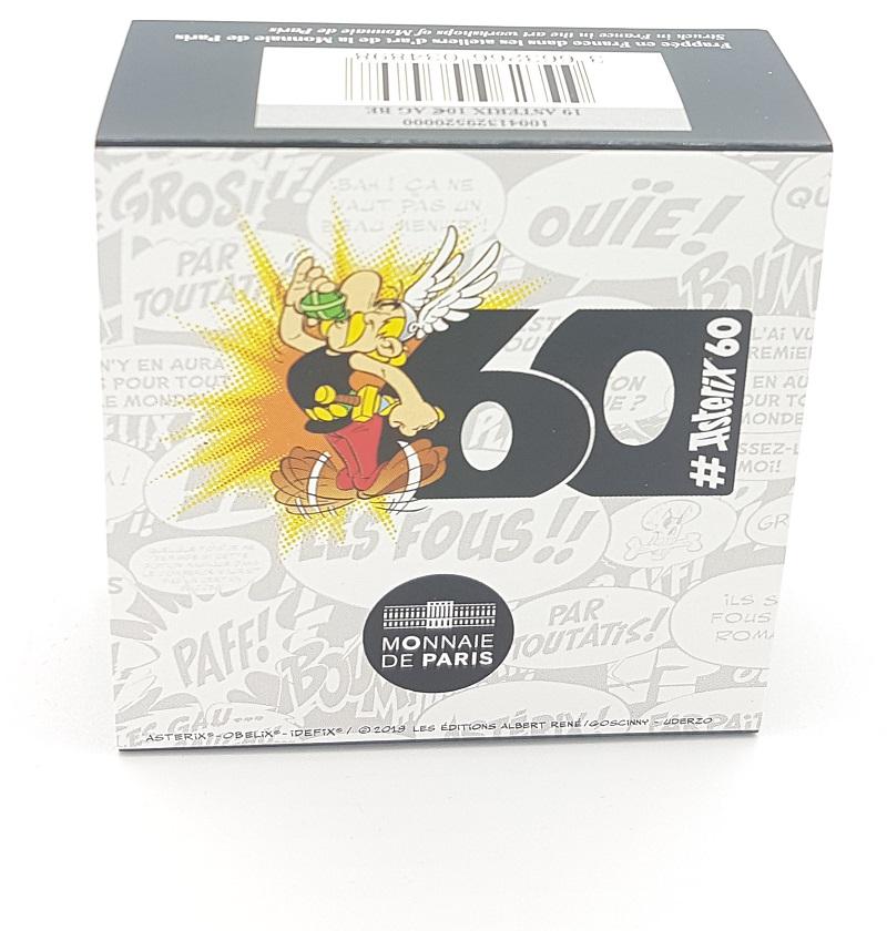 (EUR07.ComBU&BE.2019.10041329520000) 10 euro France 2019 Proof Ag - Astérix (packaging) Front (zoom)